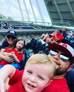 Baseball is a big deal at the Kissee household. My grandpa pitched well into his 60s, and Dad and I both played college ball. St. Louis Cardinals games were the soundtrack of my childhood. My family loves to go watch America's pastime each summer. Go Cards!